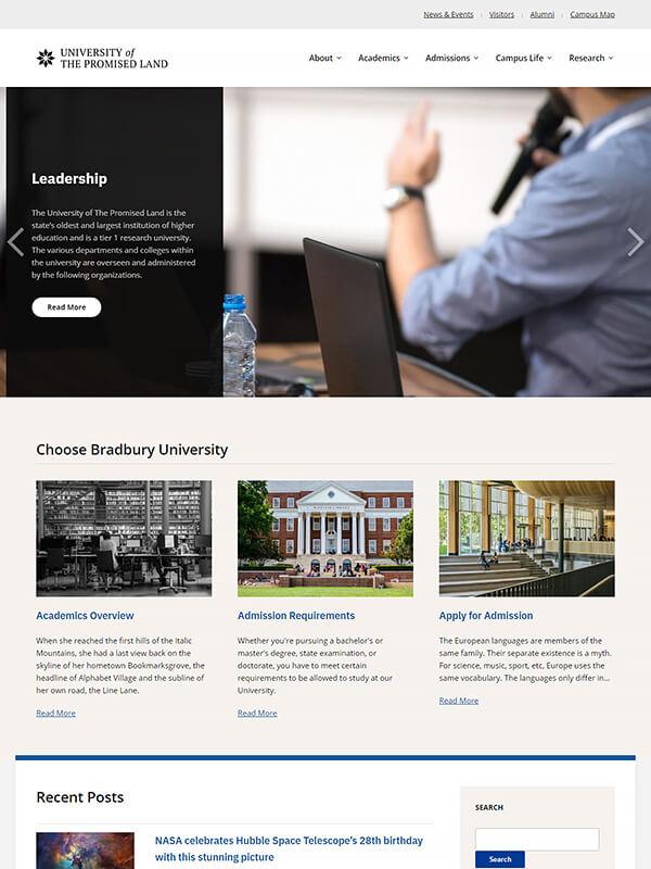 Bradbury Lite WordPress Theme Screenshot