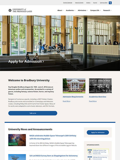 Bradbury WordPress Theme Screenshot