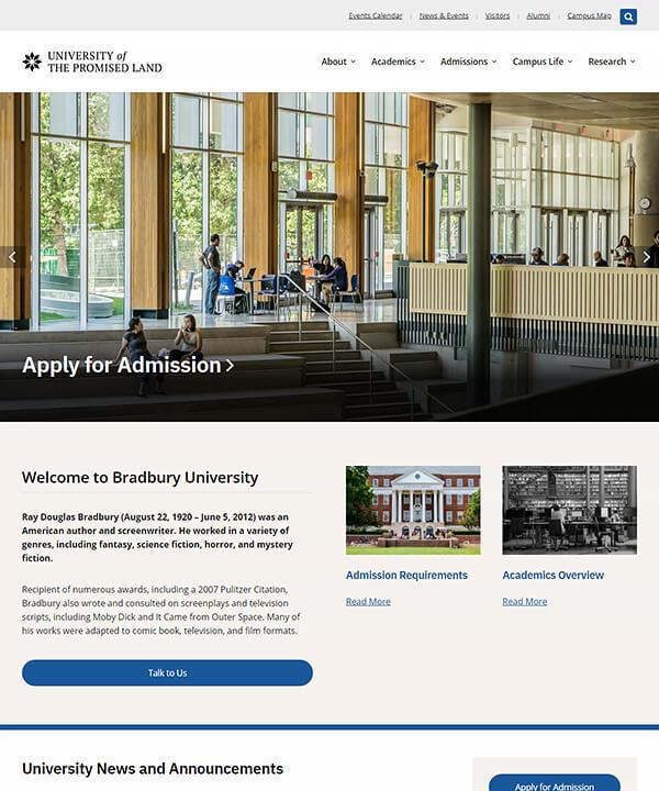 Screenshot of Bradbury Pro WordPress Theme