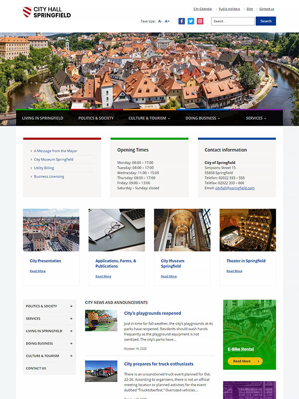 City Hall Pro WordPress Theme Screenshot