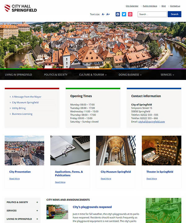 Screenshot of City Hall Pro WordPress Theme