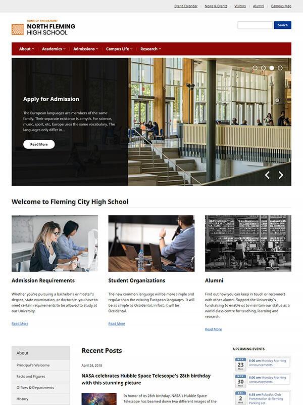 Fleming Lite WordPress Theme Screenshot
