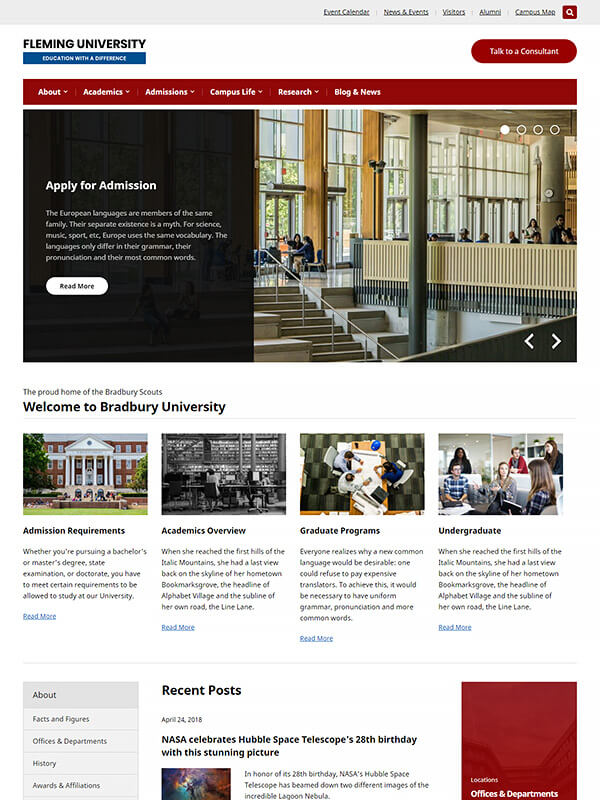 Fleming WordPress Theme Screenshot