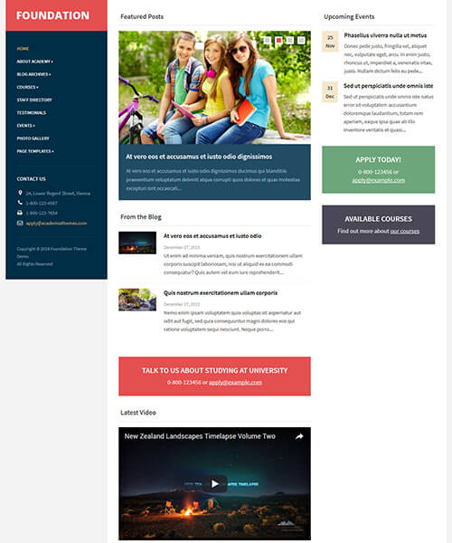 Foundation WordPress Theme Screenshot