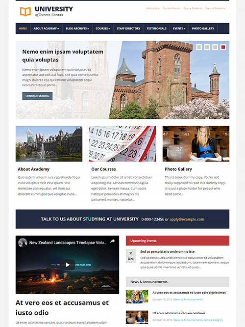 Lectura WordPress Theme Screenshot