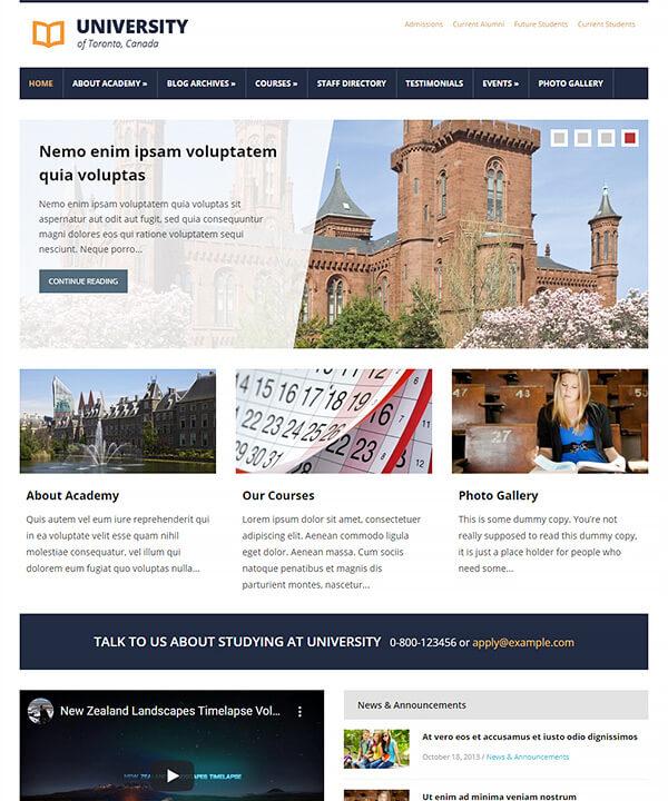 Screenshot of Lectura Pro WordPress Theme