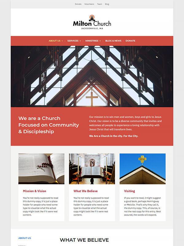 Milton Lite WordPress Theme Screenshot