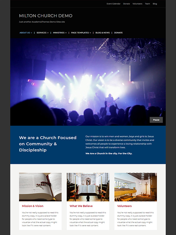 Milton WordPress Theme Screenshot
