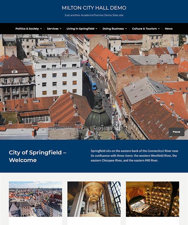 Screenshot of Milton Pro WordPress Theme