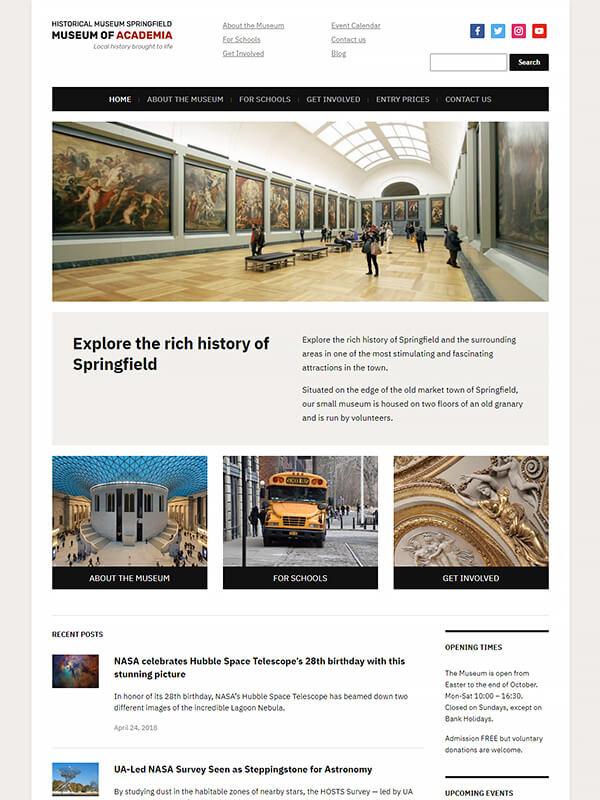 Museo Lite WordPress Theme Screenshot