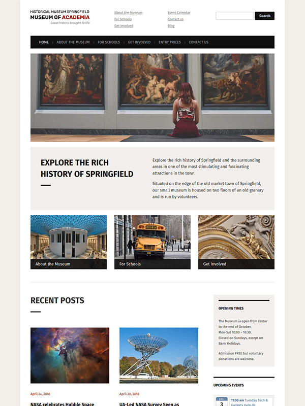Museo WordPress Theme Screenshot