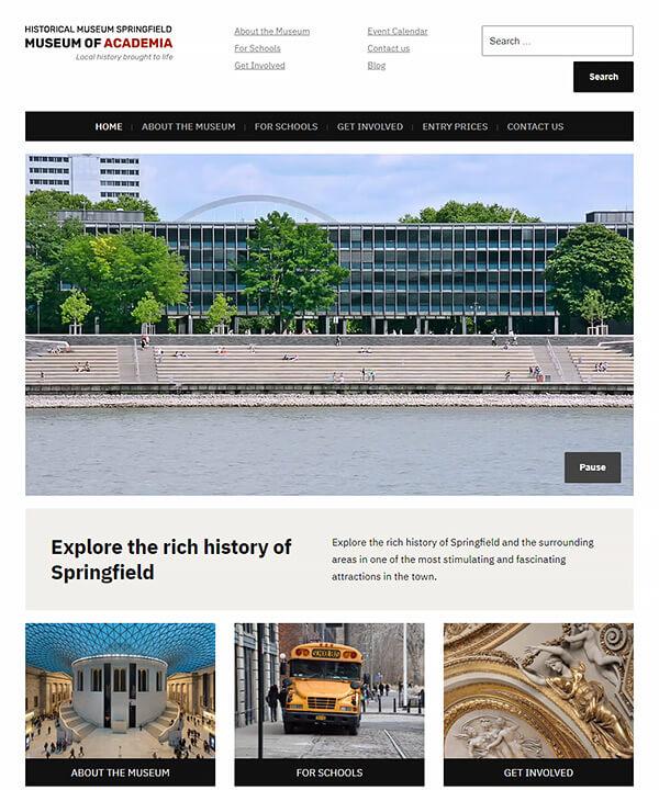 Screenshot of Museo Pro WordPress Theme