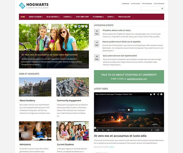 elementary-wordpress-theme-homepage