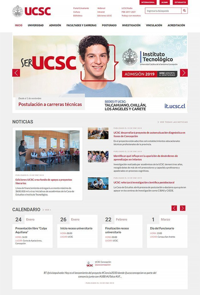Jane Alexander Calendario.60 Beautiful And Unique University Websites Powered By