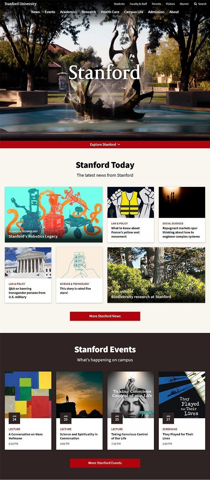 60 Beautiful and Unique University Websites Powered by